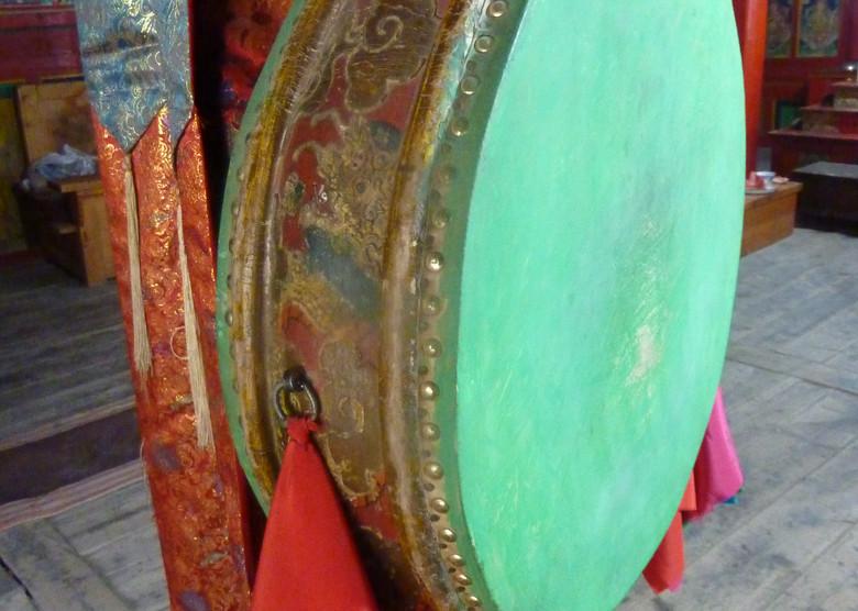 Tambour de rituel du Tibet