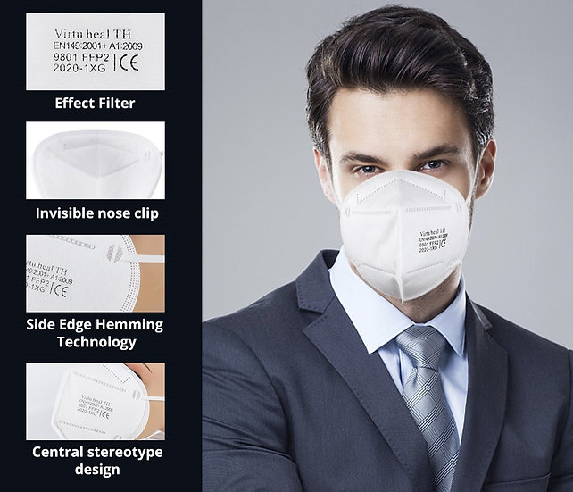 FFP2/KN95 (9801) Respirator Mask Civil (FDA & CE CERTIFIED)10 pcs