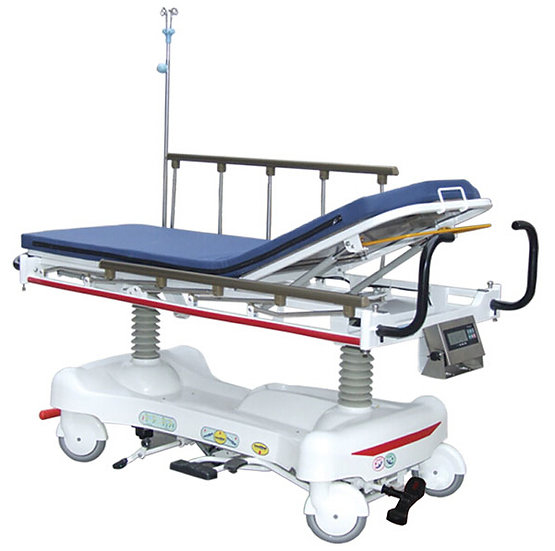 Radiolucent Hydraulic Stretcher with Weighing System