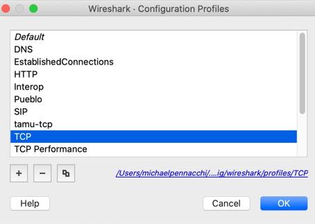 Wireshark Profiles