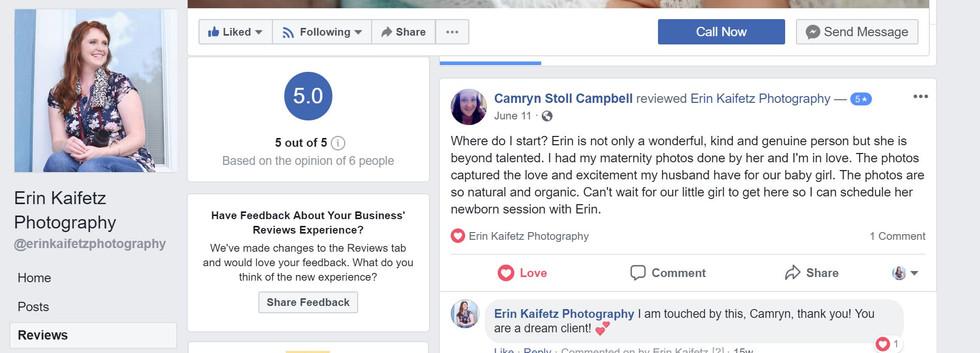 Erin Kaifetz Photography Facebook Reviews
