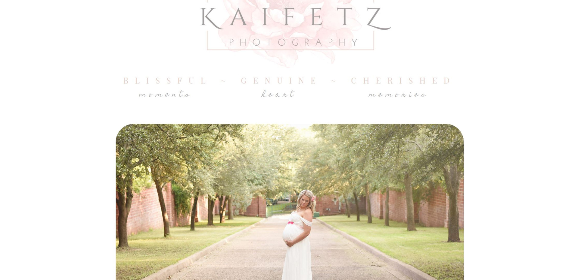 Erin Kaifetz Photography Website Home Page