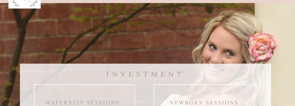 Erin Kaifetz Photography Website - Pricing