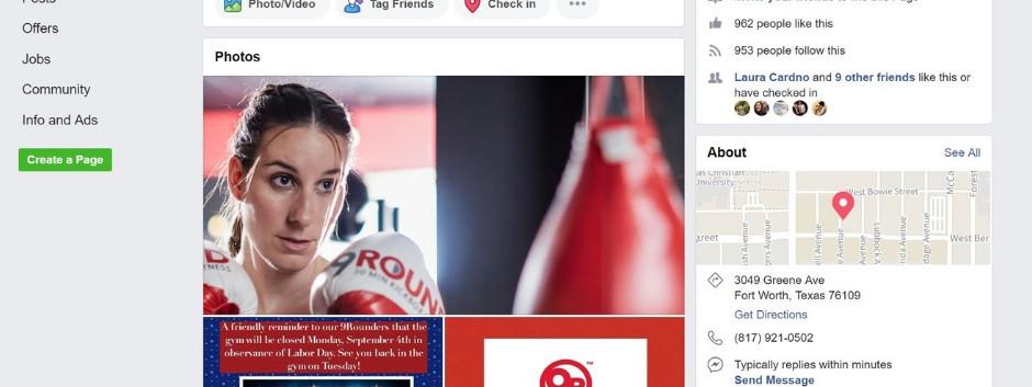 9Round Facebook Page 1