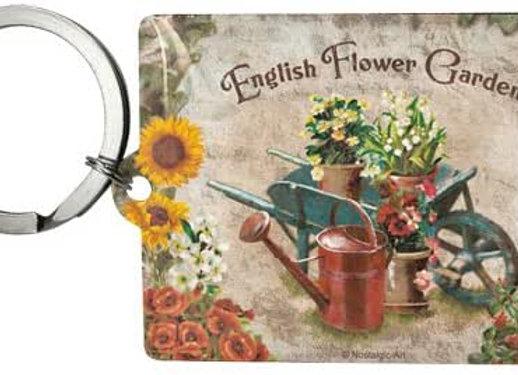 Nostalgic art - porte clé fleurs