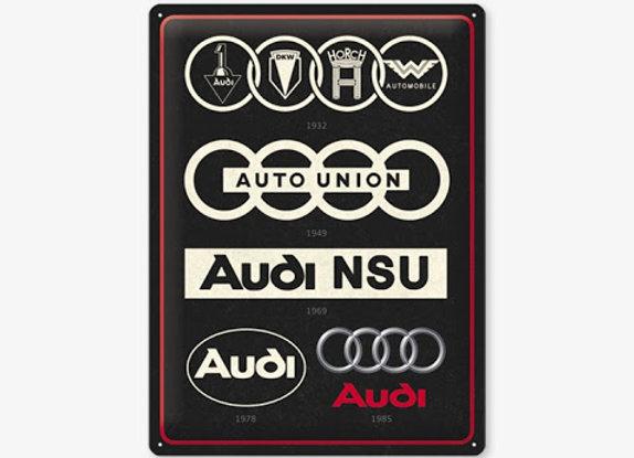 Nostalgic art - Audi logo evolution