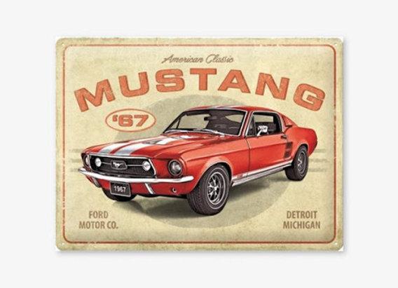 Nostalgic art - Ford Mustang
