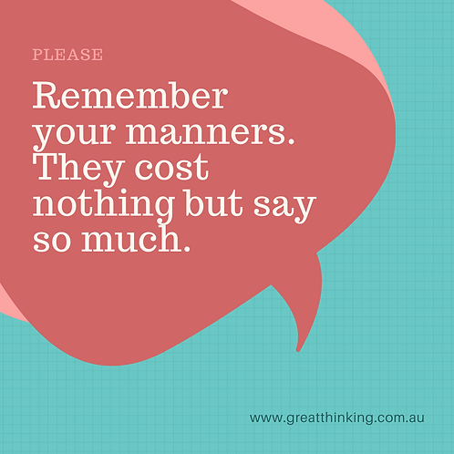 Remember Your Manners Printable