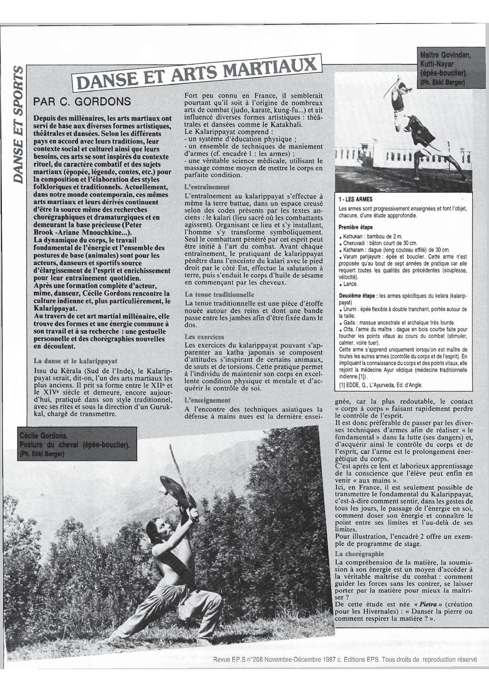 Revue EPS novembre et décembre 1987