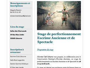 Stage perfectionnement Escrime de Spectacle épisode 2 !