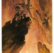 Combat dans le volcan
