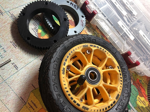 60 Tooth Drive Gear for MBS Hubs Wheels for DIY Electric Board Builds