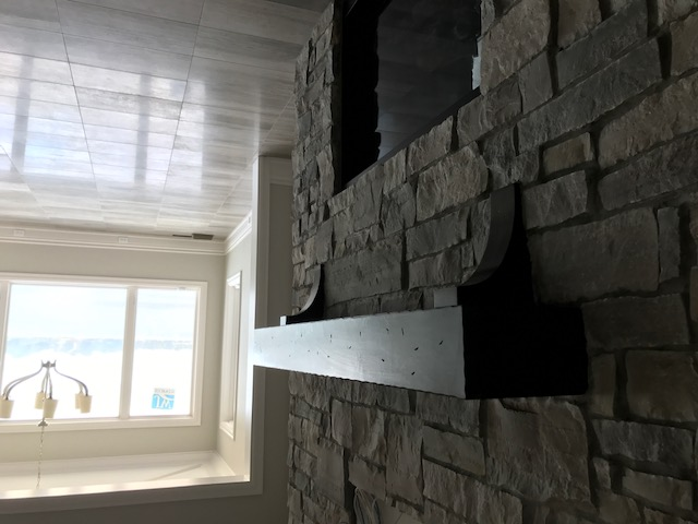 Custom Shelf Mantel by TM