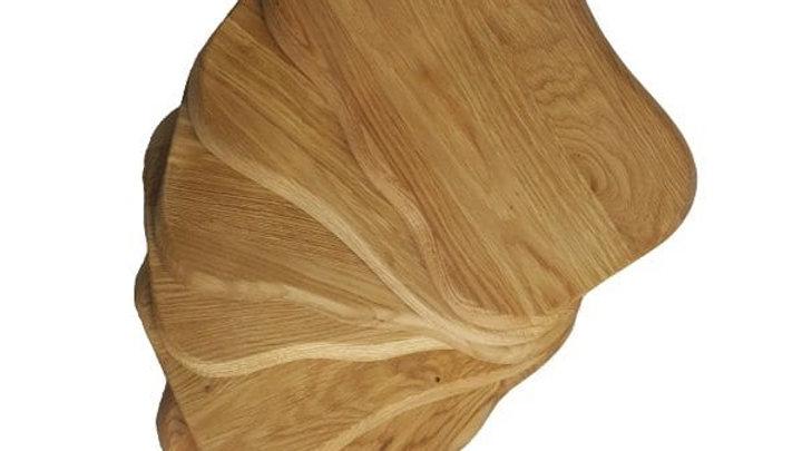 Set of 6 Rustic Oak Placemats 300x200x18