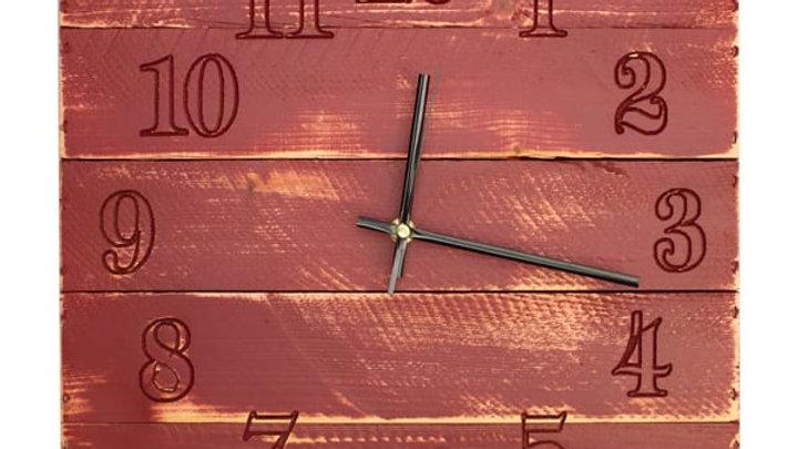 Painted Rustic Box Clock