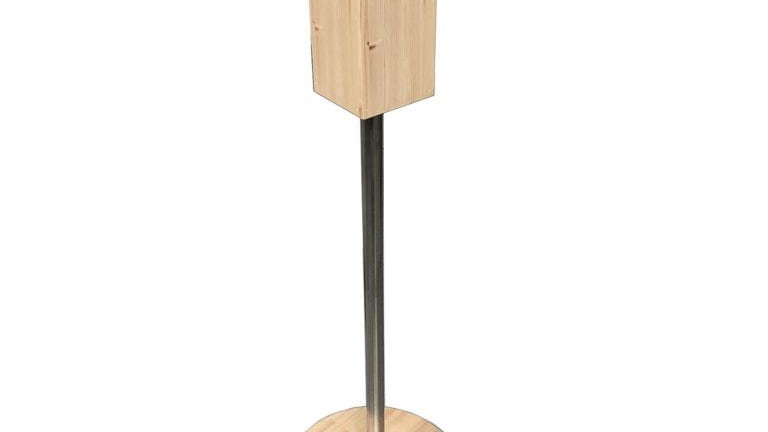 Pine Freestanding Hand Sanitiser Pillar Dispenser Stand 1250x400D