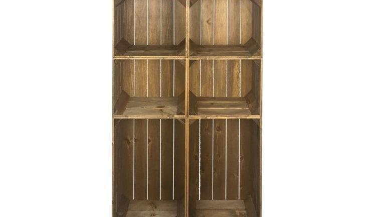 Slim 6 Mobile Brown Crate Display