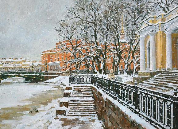 """Павел Еськов, """"Петербург. У павильона Росси"""""""