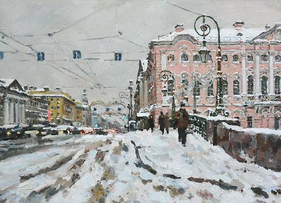 """Павел Еськов, """"Невский проспект. Январь"""""""