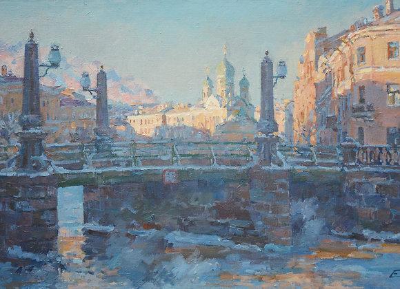 """Павел Еськов, """"Пикалов мост. В морозной дымке"""""""
