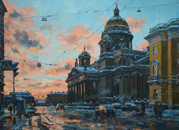 """Павел Еськов, """"Вечером на Малой Морской улице"""""""