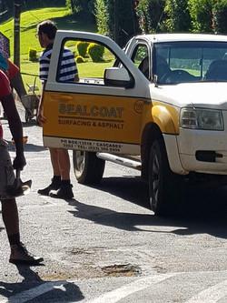 Sealcoat repairs potholes Jan 2019