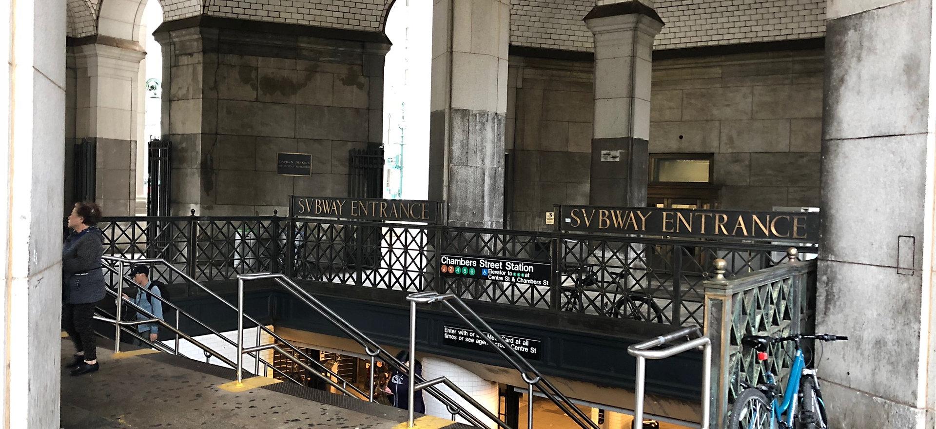 CHAMBERS ST SUBWAY STATION