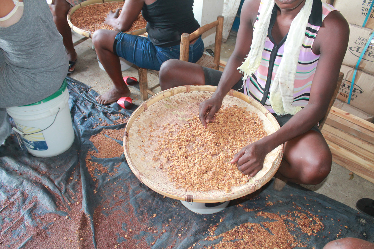 Roasted peanut cleaning