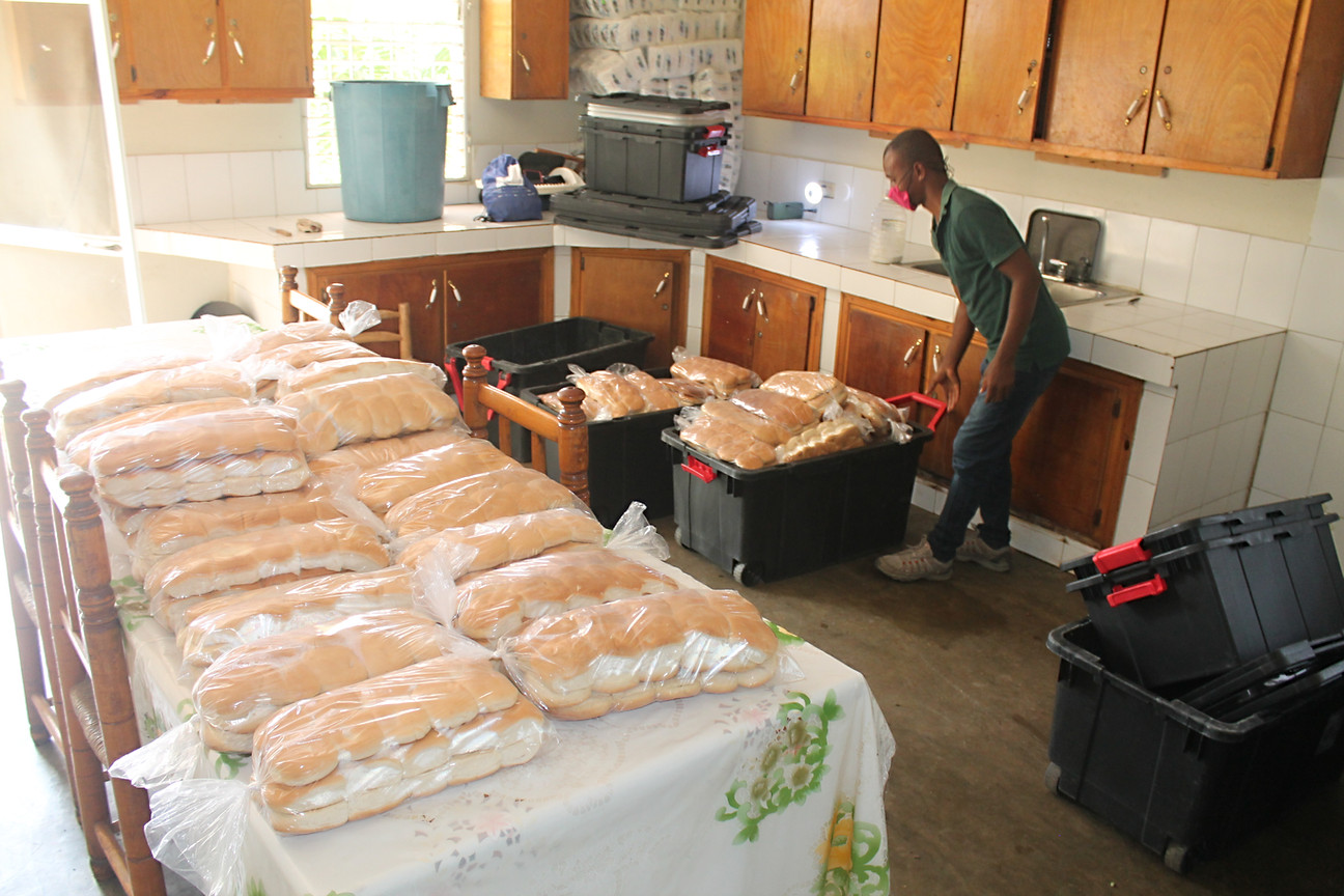 Bread delivery for the breakfast program