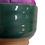 Thumbnail: 博多織×上野焼コラボ 針刺し パープル