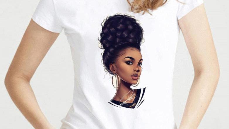 Women Clothes Melanin Poppin T Shirt Women Vogue Black Girl Magic Rocks