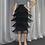 Thumbnail: Green Fringe  Pencil Skirts Tassel High Waist Women Stretch Sheath Plus Size