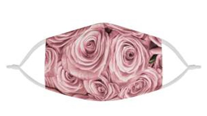 Rosy Roses | 100% Soft Pima Cotton Triple Layer Face Mask