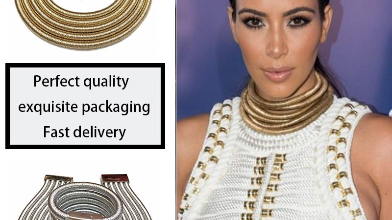 African Jewelry Set Fashion Choker Necklace Sets for Women