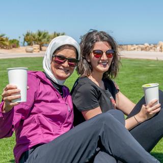 Nada & Mariam , Happy participants with