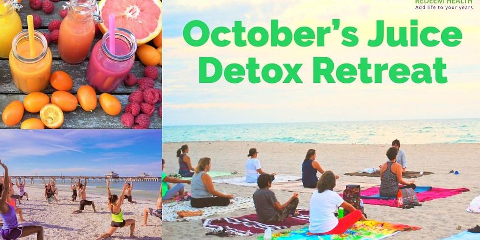 October Juice detox retreat
