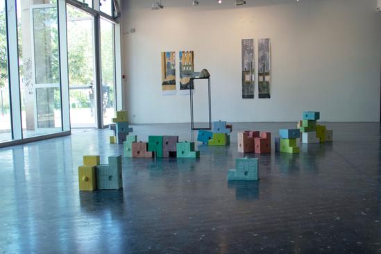 Activation de la sculpture le 13 juin 2019, Galerie de l'Esplanade, Metz