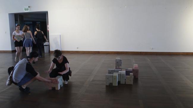 Activation de la sculpture le 2 juin 2018, Galerie des Great Armoury, Gdansk