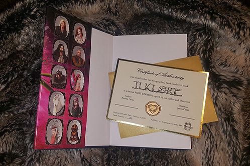 Ilklore Hardcover - Signed w/ Certificate of Authenticity