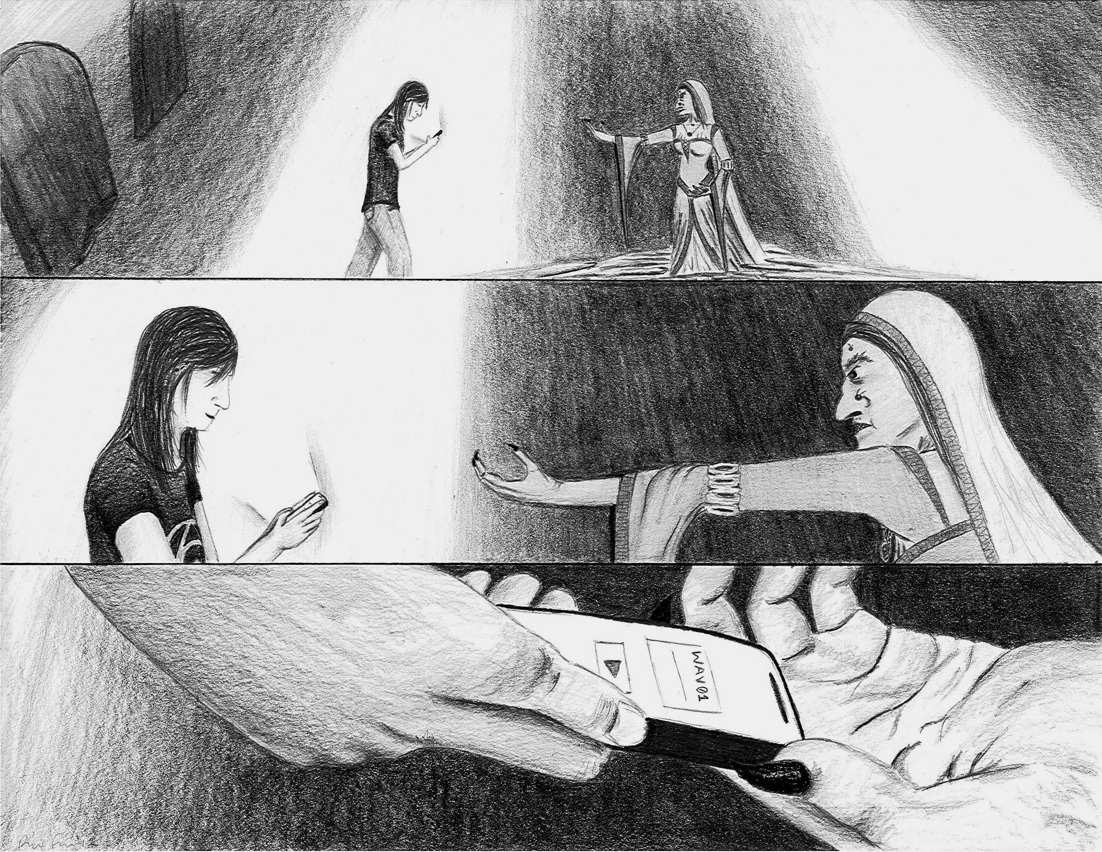 Banshee Storyboard Illustration