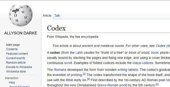 Allyson Darke   Codex