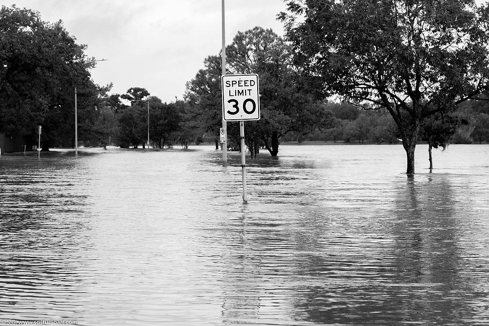 Hurricane Harvey Flooding Photo by S. G. Studio Art