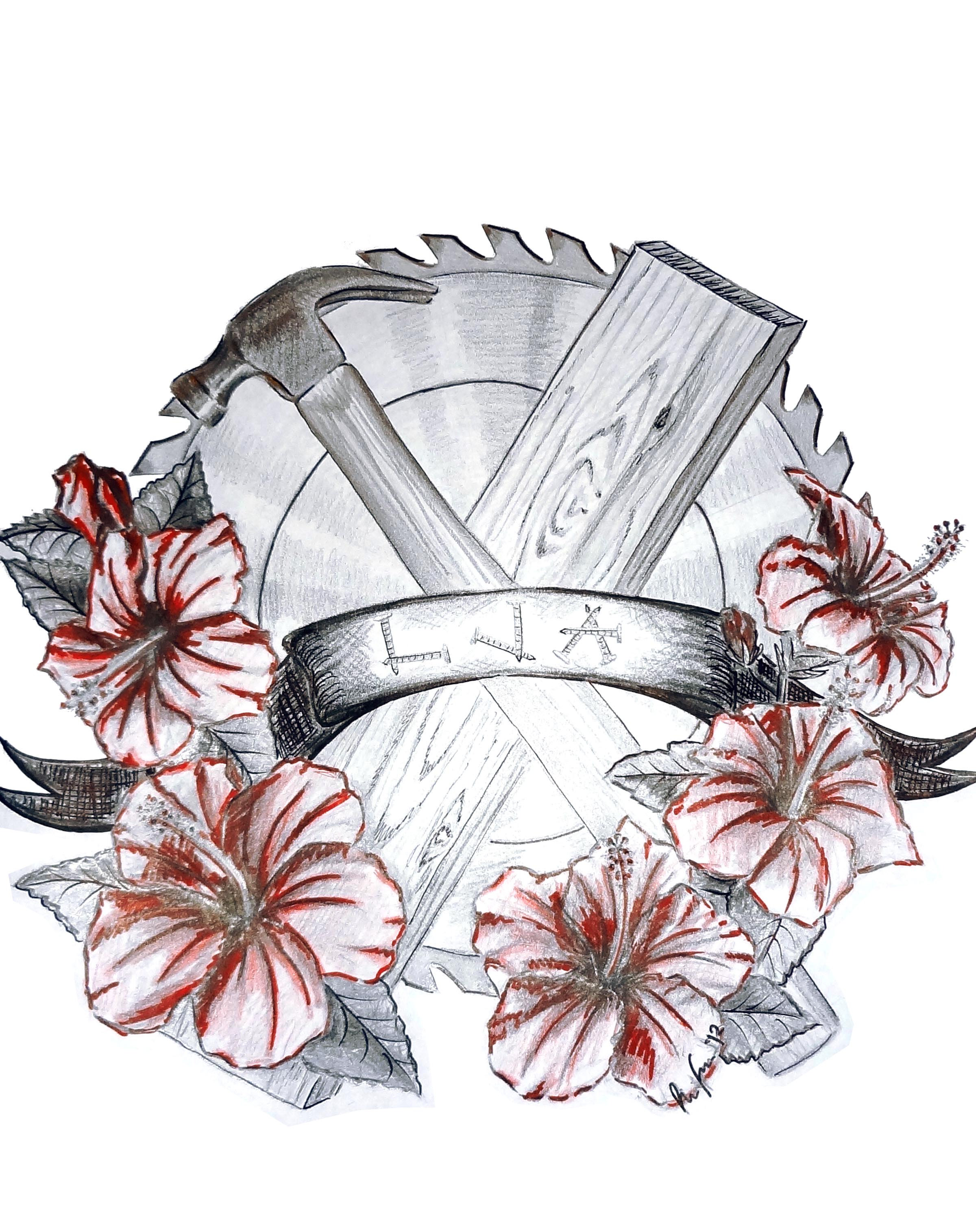 Woodworker Memorial Tattoo Design