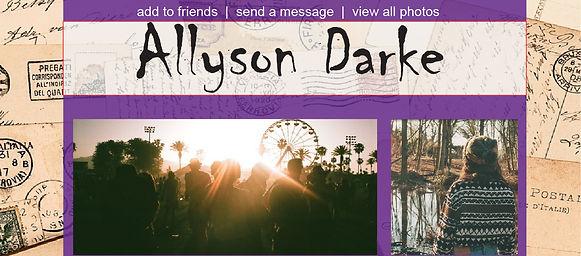 Allyson Darke's Social Media