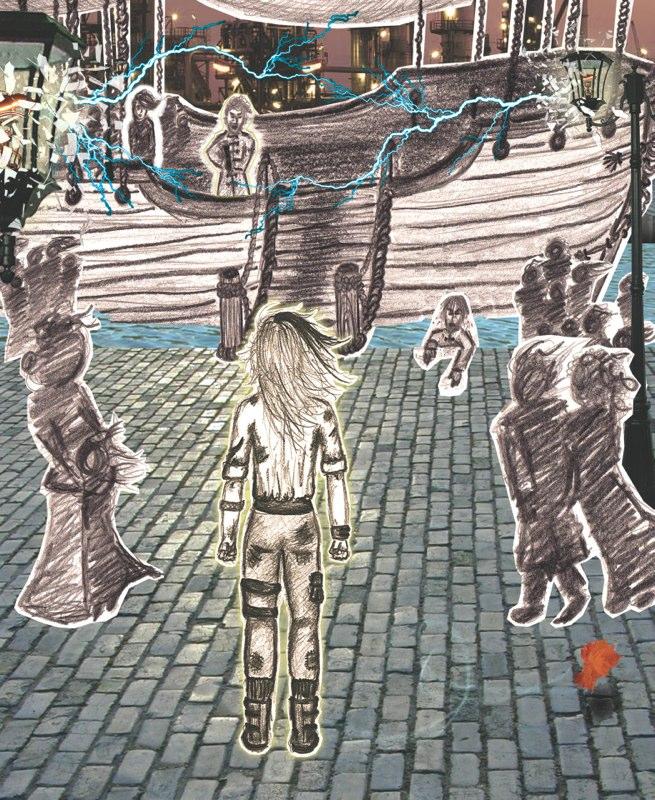 Steampunk Dock Illustration