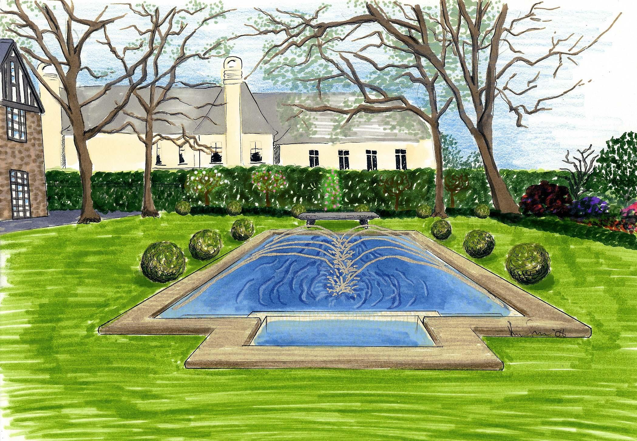 Pool Landscape Rendering