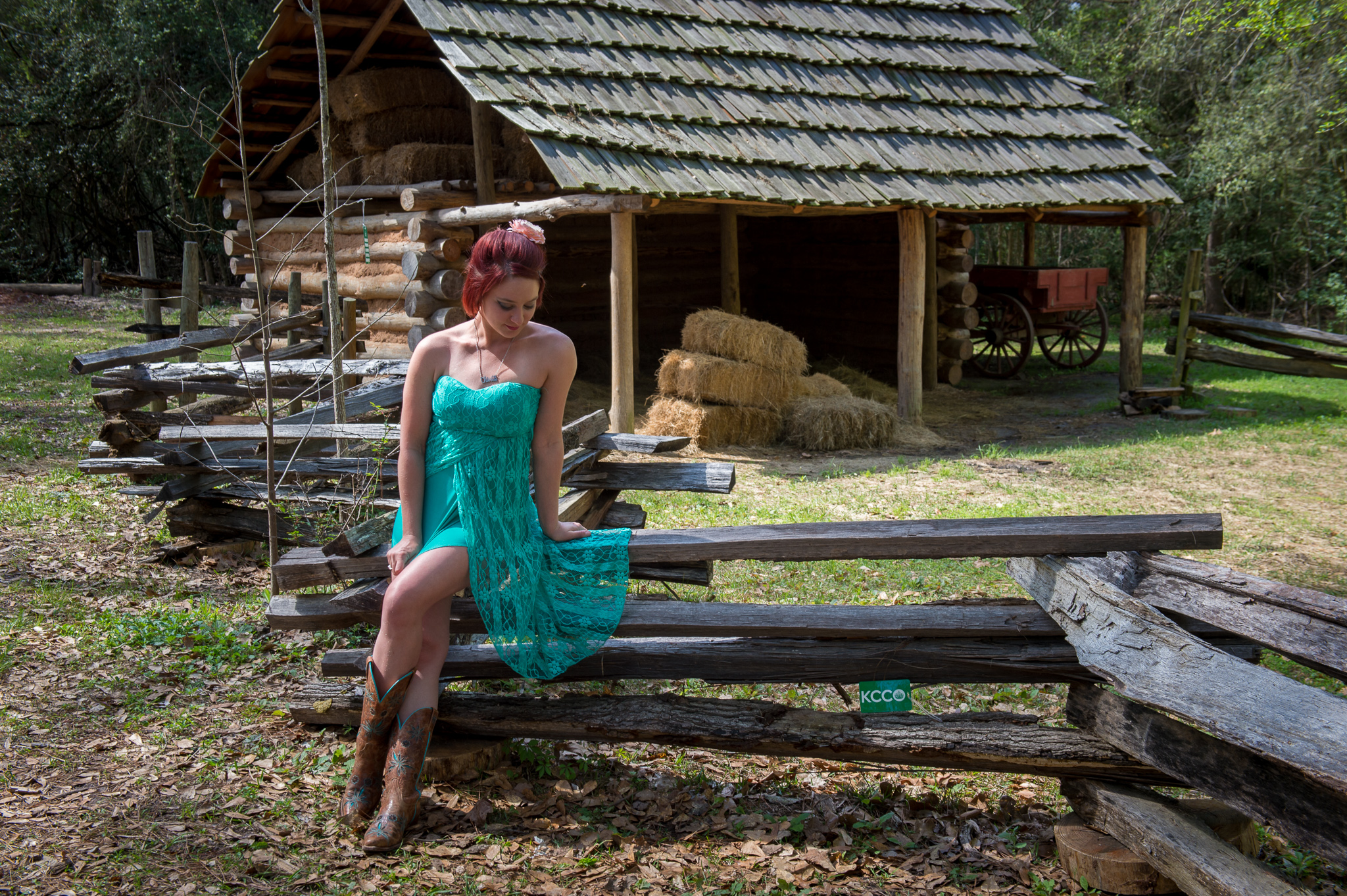 Country Western Woman Photograph