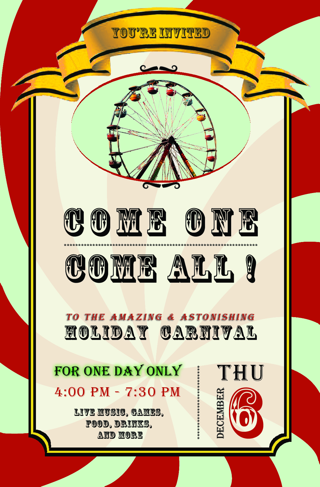 Carnival Holiday Poster