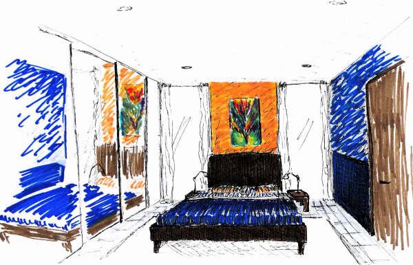 Residential Bedroom Rendering