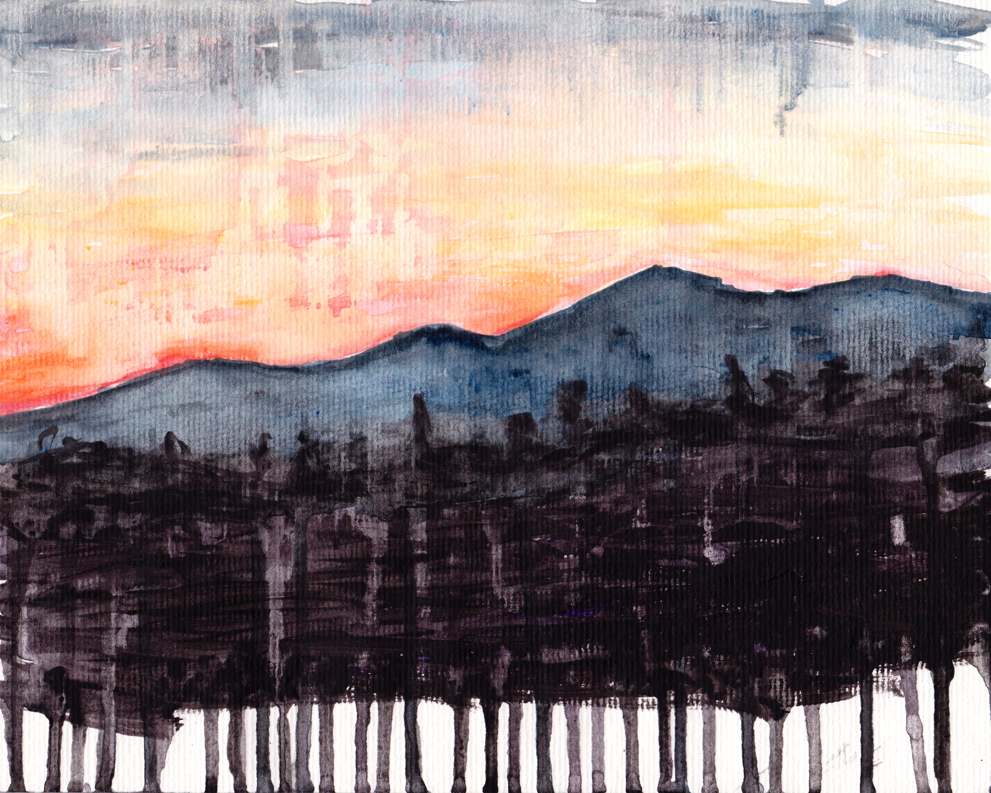 Desert Sunset Painting